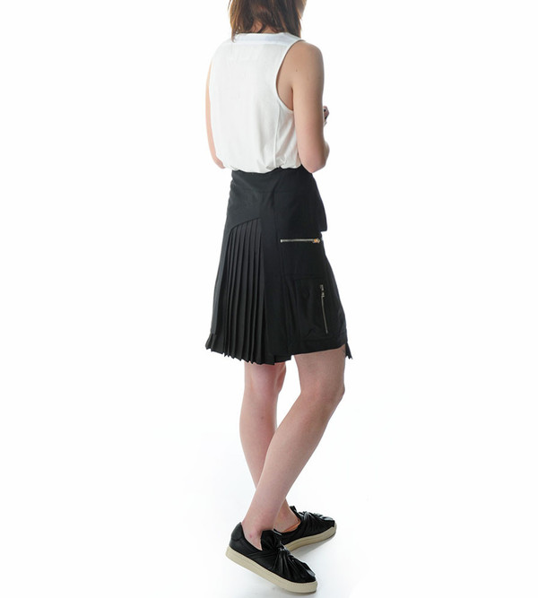 Tim Coppens Black Cargo Skirt