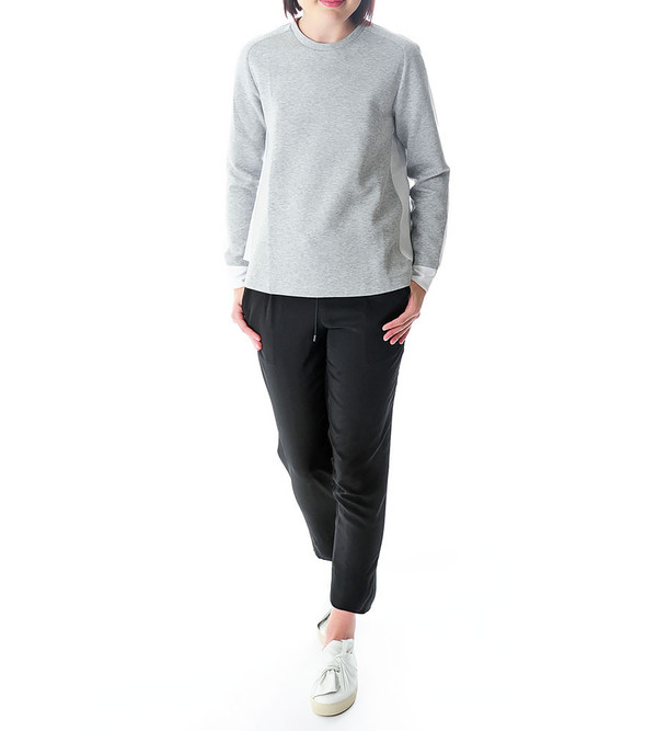 Tim Coppens Silk Overlay Crew Neck Top