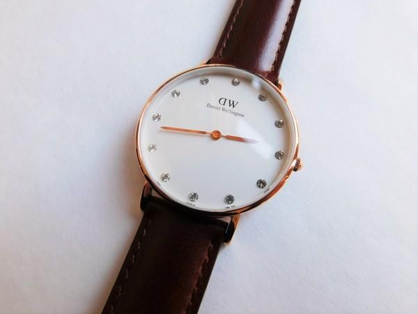 Daniel Wellington St. Mawes Rosé 34mm Watch with Swarovski Crystal Index