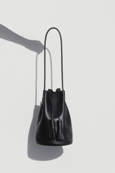 Building Block Black Bucket Bag