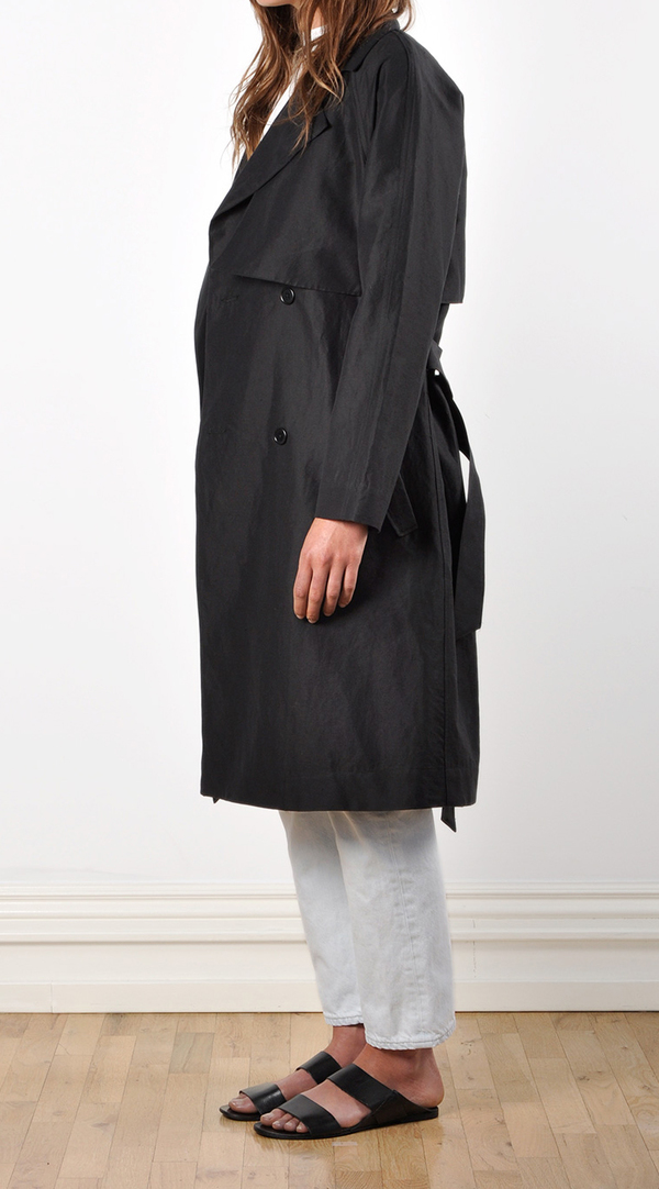 Waltz Oversized Cotton / Linen Trench Coat