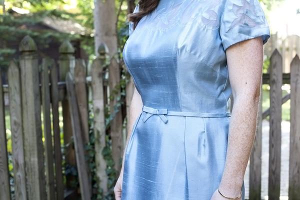 White Elephant Vintage Shimmering Blue Cocktail Dress