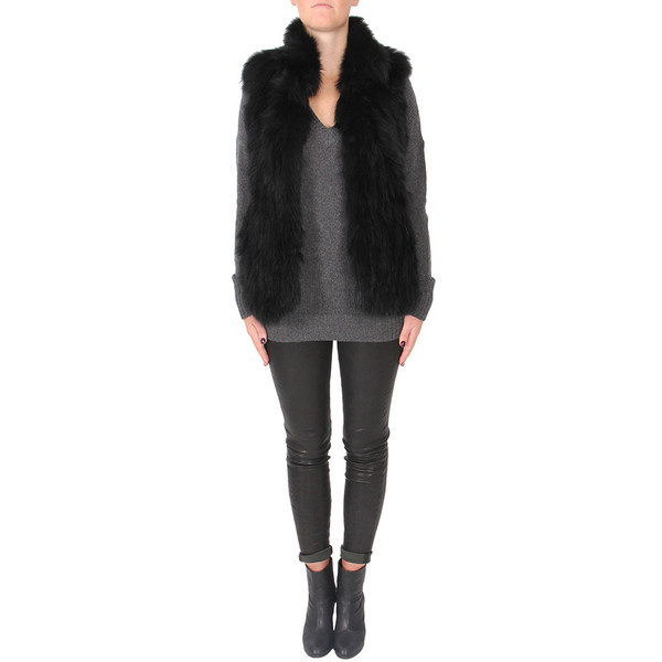 Theory Hanalee Knit Fur Vest
