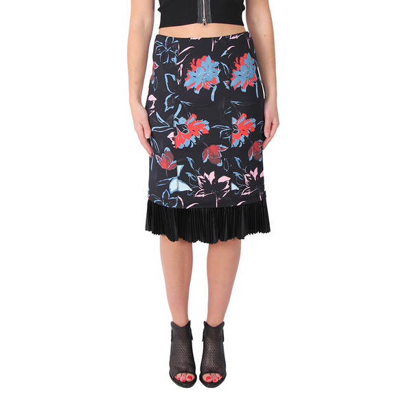 Suno Scuba Pleat Skirt