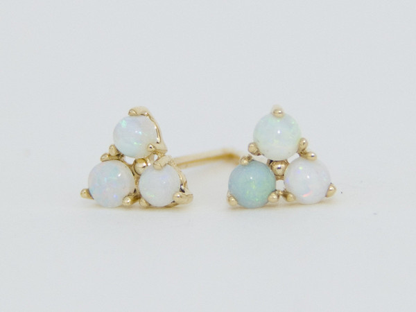 Mismatched Tri-Opalite Earrings