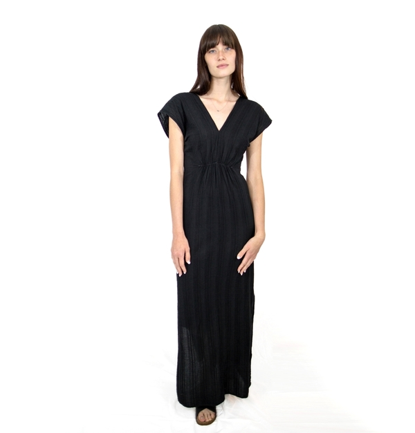 Esby Navy Beach Maxi Dress