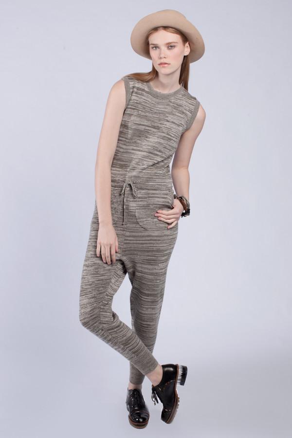 Micaela Greg Olive Tie-waist Jumpsuit
