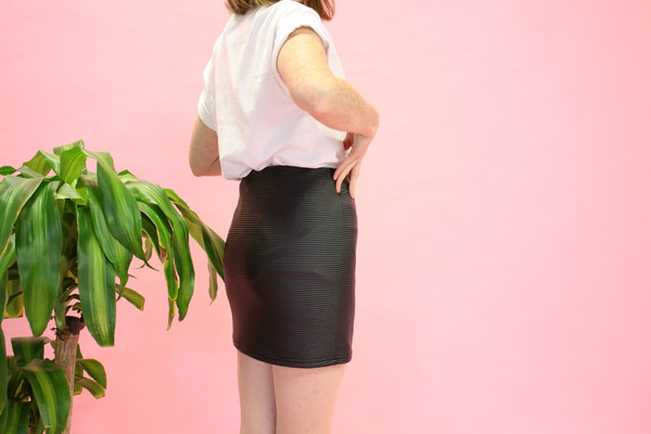 Eve Gravel Mont-Royal Skirt (Leatherette)