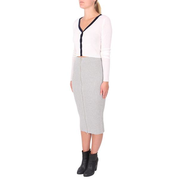 T By Alexander Wang Cropped Button Down Cardigan