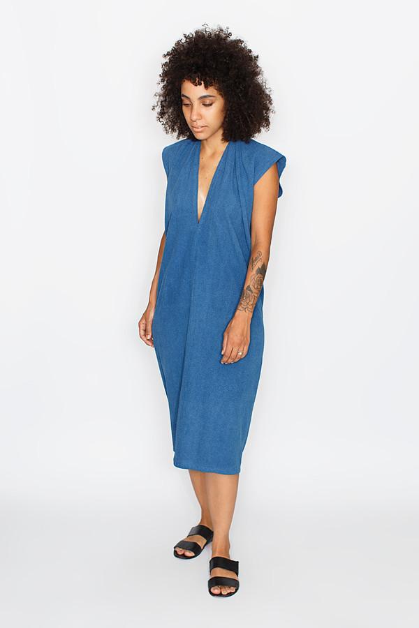 Miranda Bennett Indigo Everyday Dress, Silk