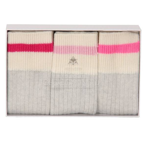 JOYSLEIGH TOBOGGAN SOCKS - BOX OF 3