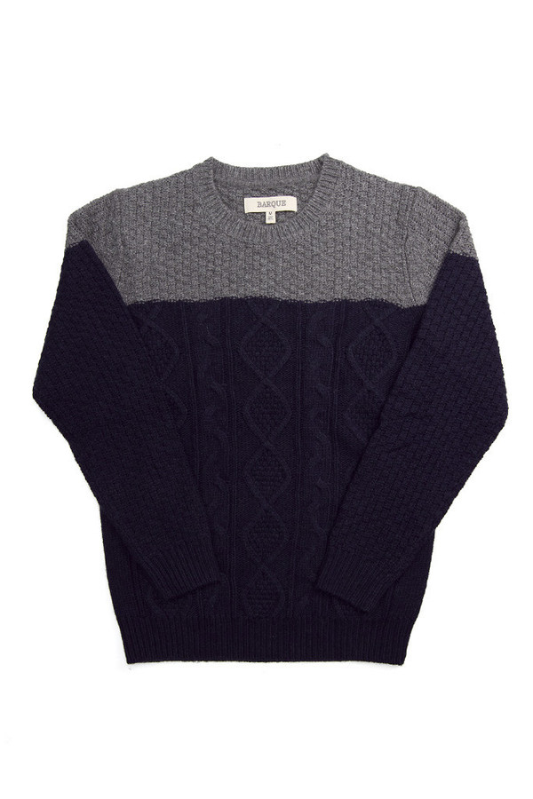 Men's Barque Color Block Cable Sweater