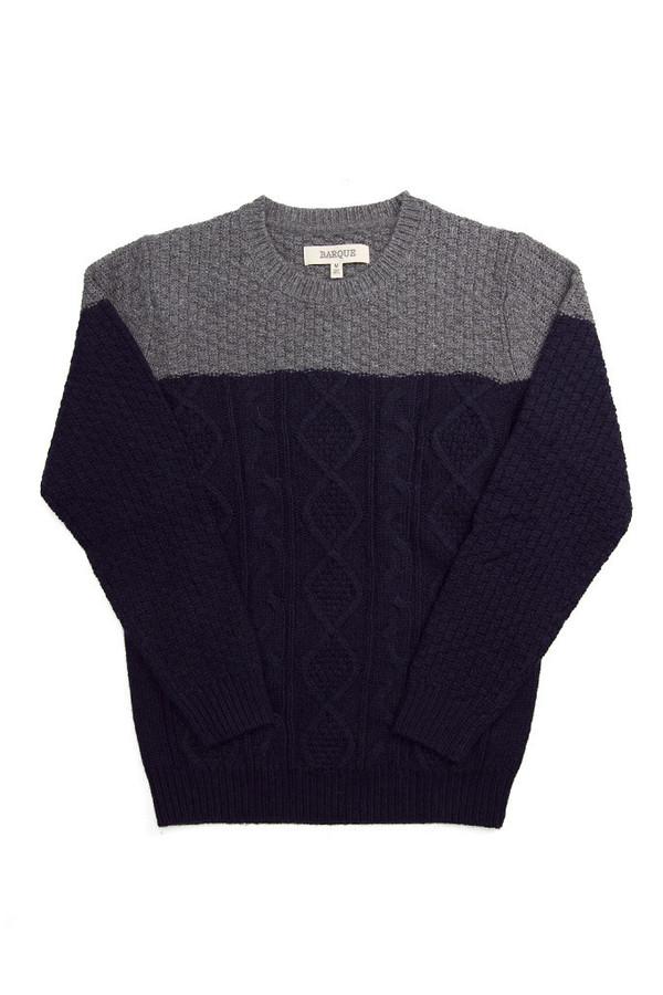 Men's Barque Color Block Cable Sweater