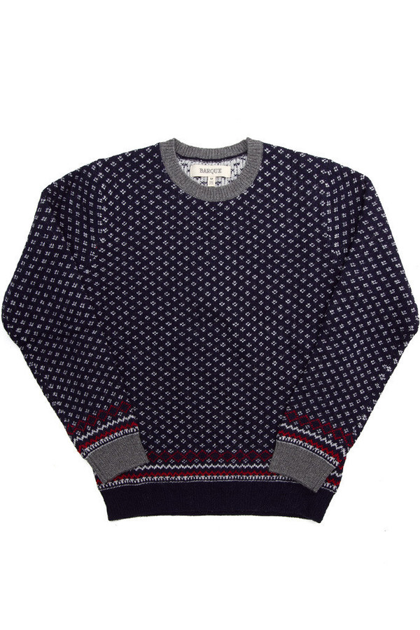 Men's Barque Navy Snowflake Sweater