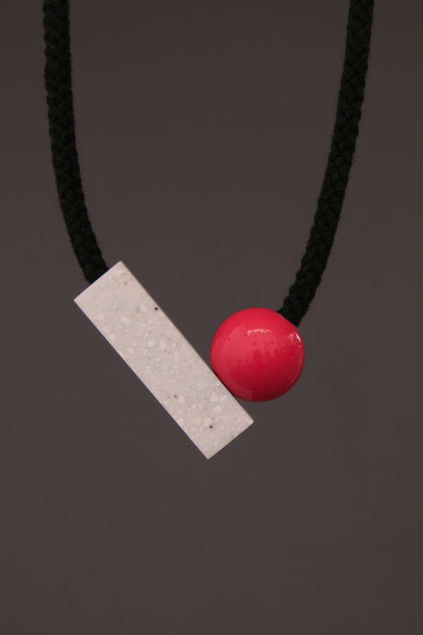 One We Made Earlier Josef Necklace Pink