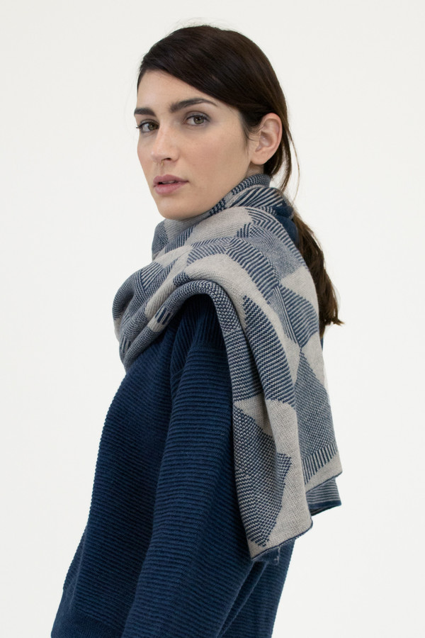 Micaela Greg Moonlight Blue Spectrum Scarf