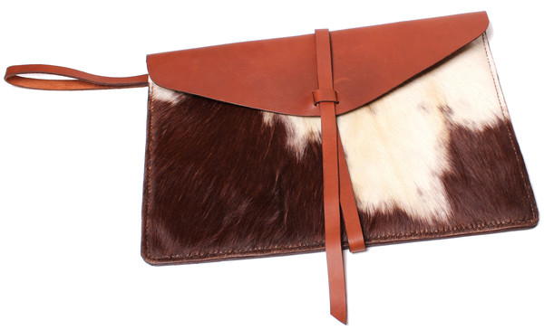 Calf Hair Envelope Clutch