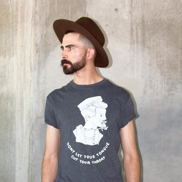 Men's Wolf & Man  @OrnHansen PDX and @1924us Collaboration T shirt