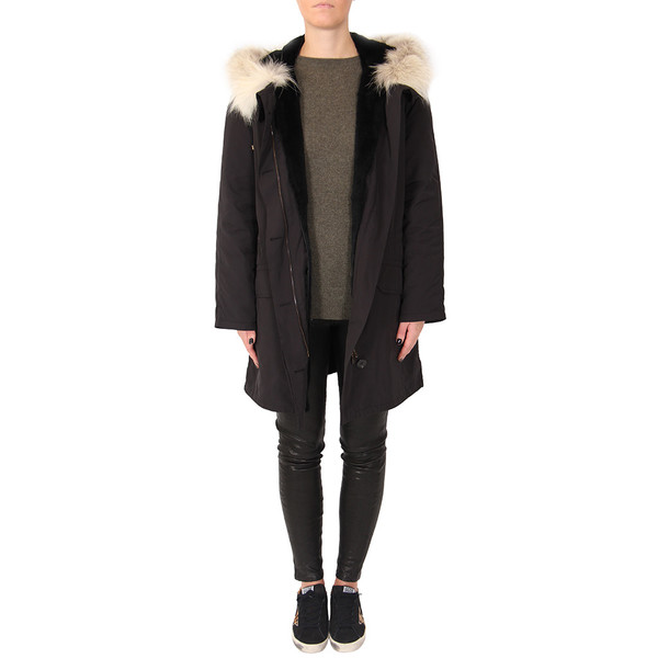 YVES SALOMON RABBIT FUR-LINED PARKA