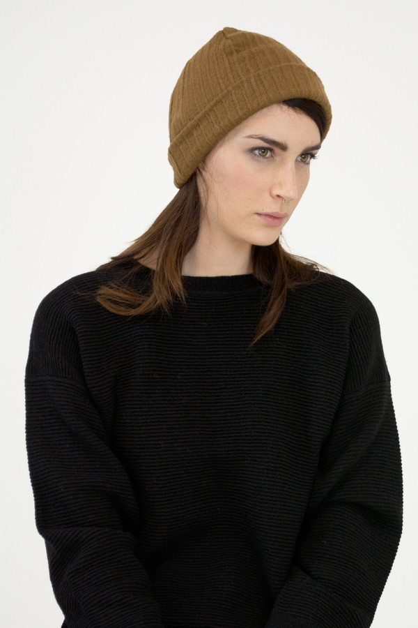 Burnt Sienna Crinkle Hat