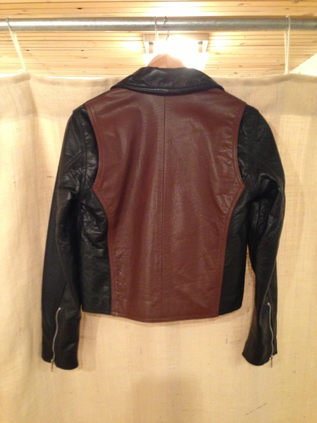 Wood Wood contrast panel biker jacket