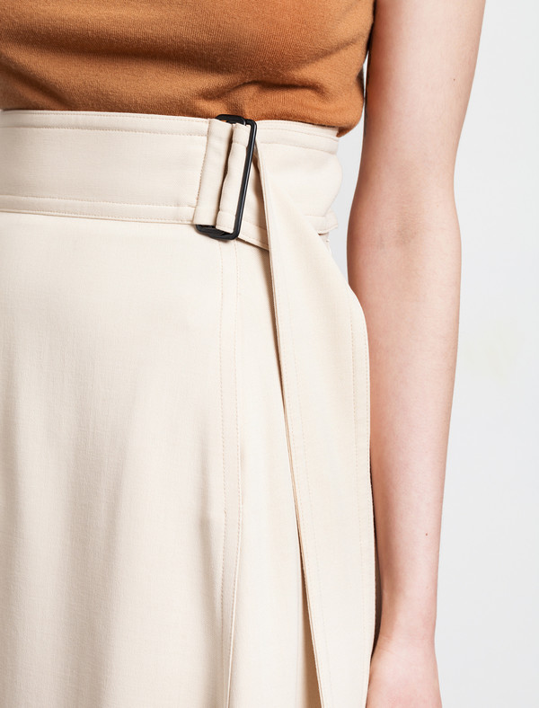 Lemaire Long High Waisted Skirt Butter