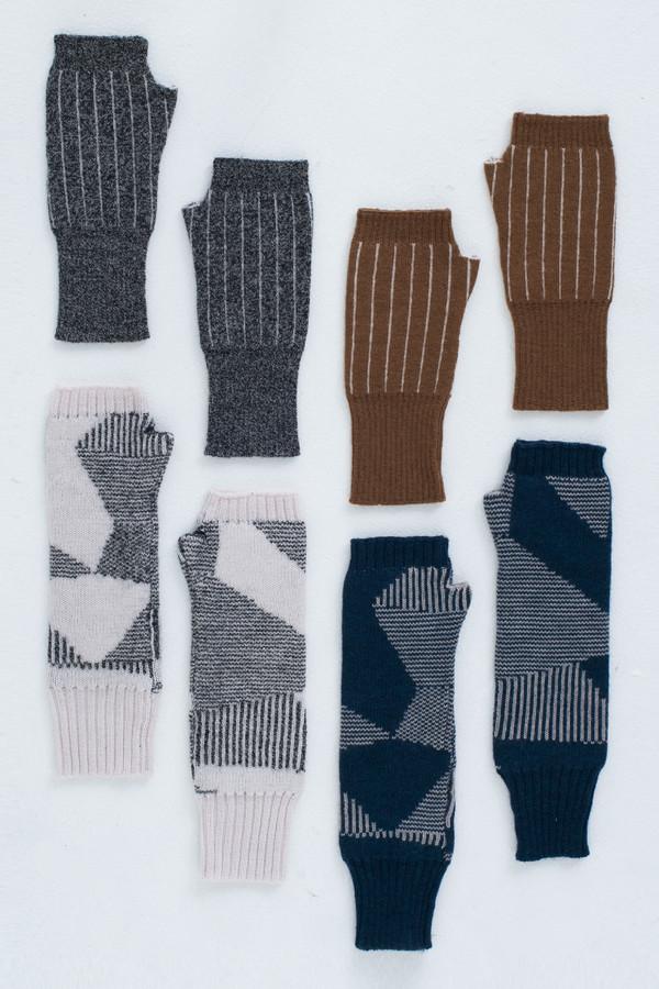 Micaela Greg Moonlight Blue Spectrum Fingerless Gloves