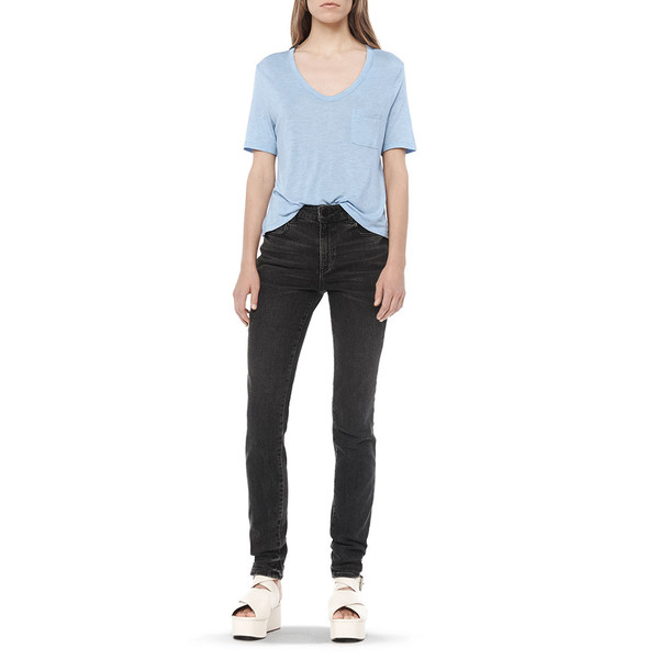 T By Alexander Wang CLASSIC CROP TEE - SKY