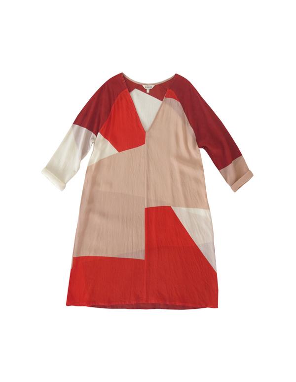ALI GOLDEN RAGLAN DRESS - REDS