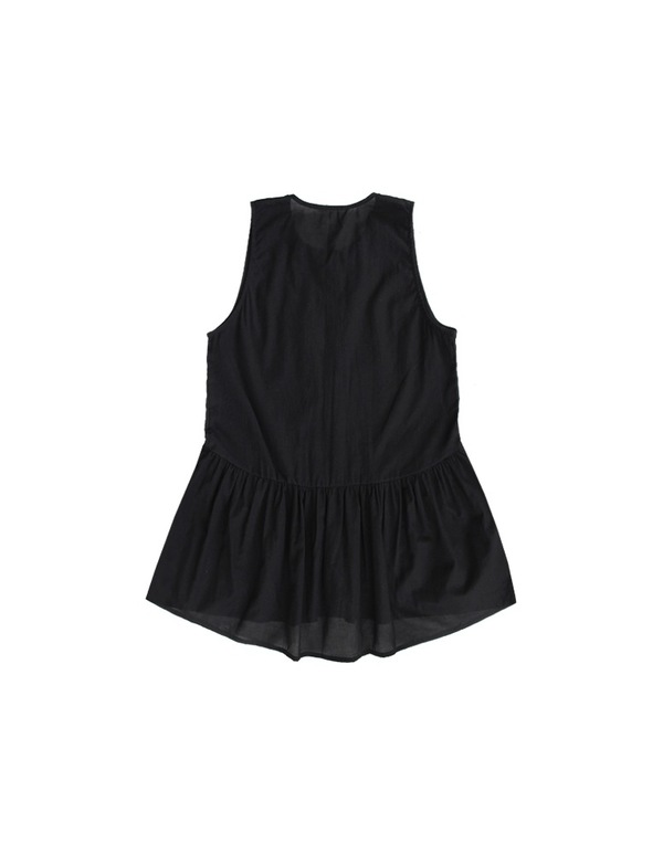 ALI GOLDEN BUTTON-UP TANK - BLACK