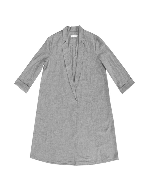 ALI GOLDEN NOTCH COLLAR JACKET - GREY
