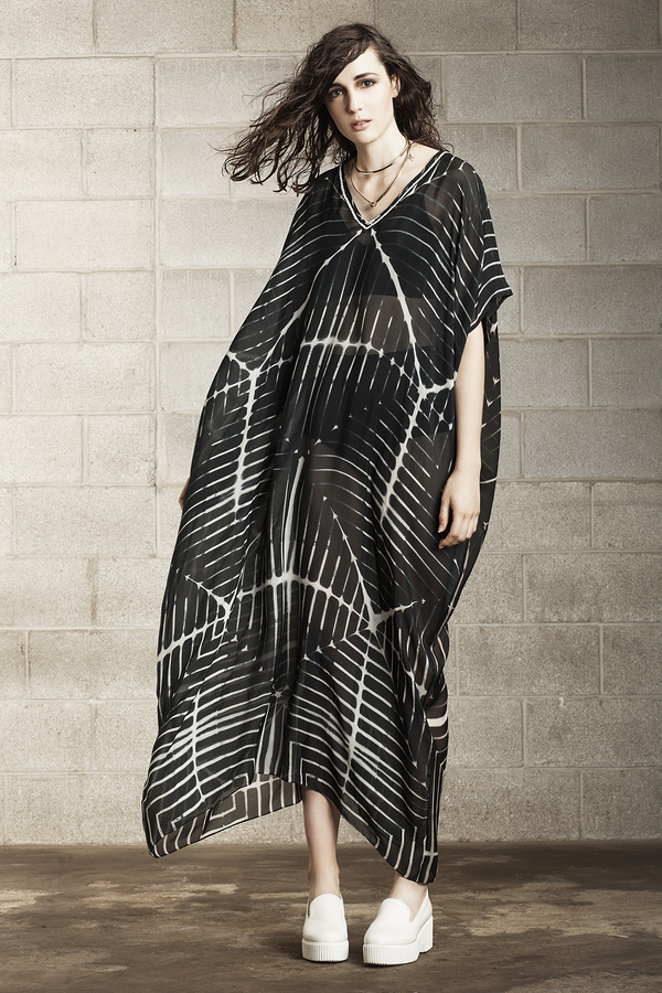 Laura Siegel Linear Printed Kaftan