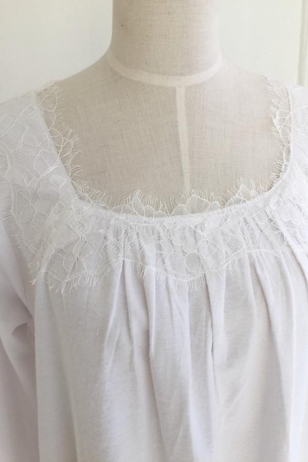 "Salua Gardenia Flannel Gown 48"""