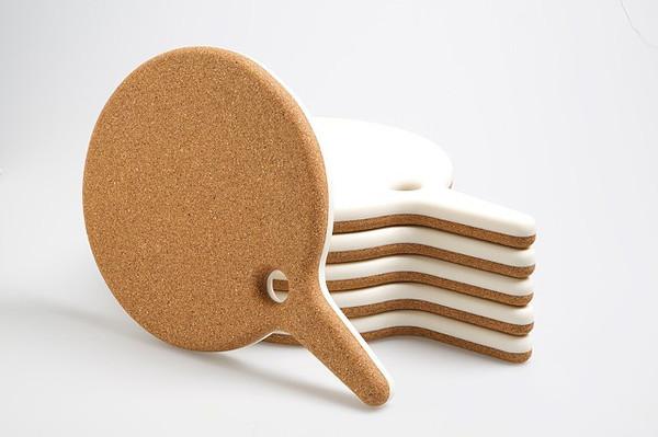 Tinsel & Sawdust Round Cork/Corian Board