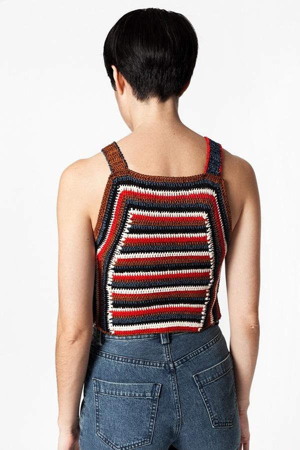 Rachel Comey Crochet Cropped Tank