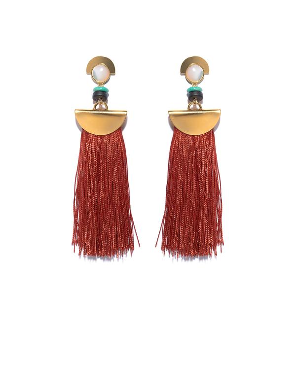 Lizzie Fortunato Mount Sage Earrings