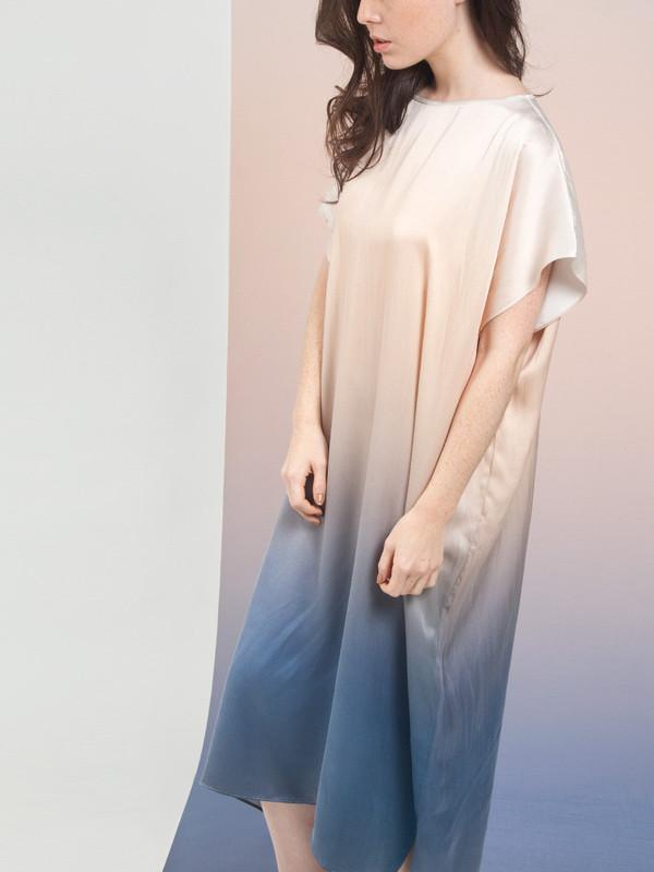 Calico x Swords-Smith x Print All Over Me Aurora Heaven Square Dress