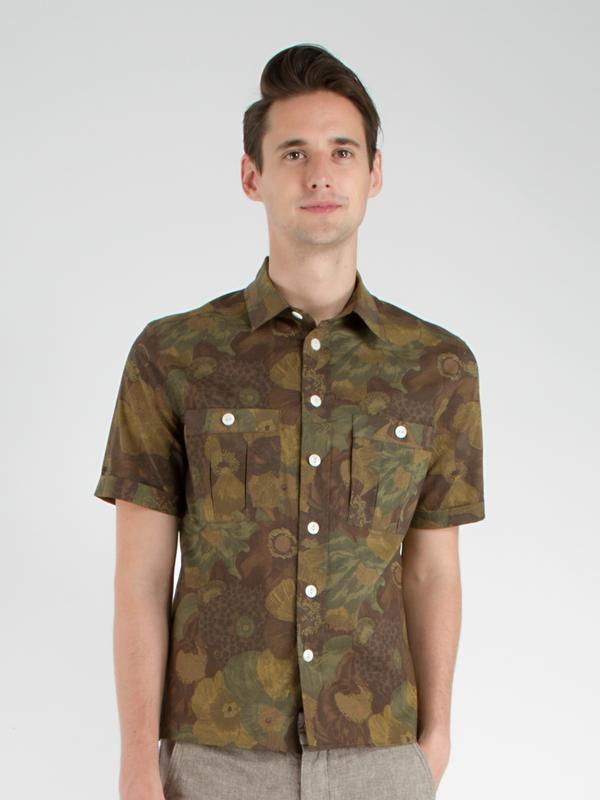 Men's swords-smith Evan Camp Shirt - Floral Camo