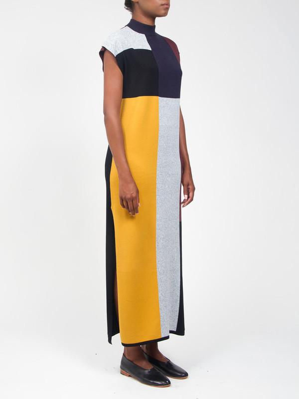 Vera Geo Column Dress