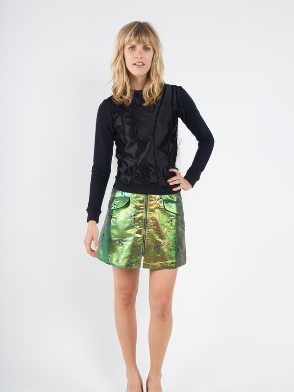 Risto Zip Front Mini Skirt