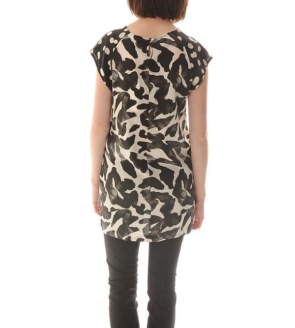 Shakuhachi Silk T-Shirt Dress