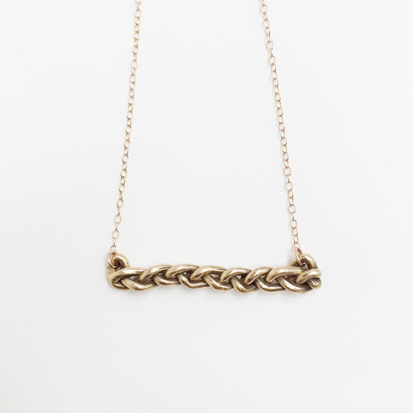 Lane Walkup Bronze Braid Necklace