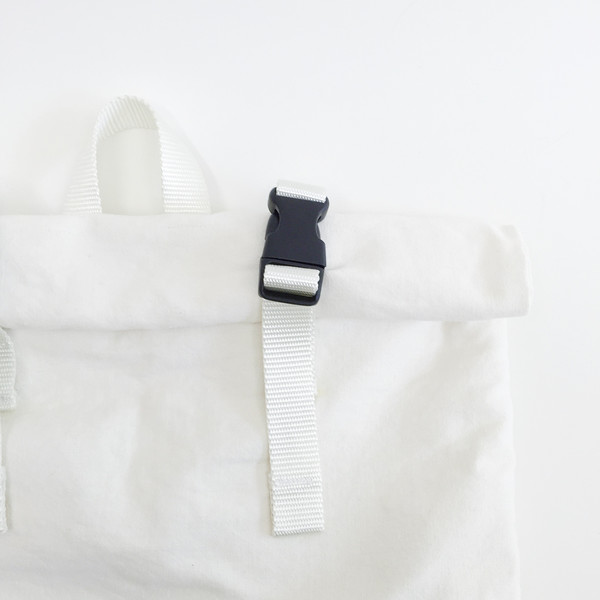 Sacs Roll Top Backpack No. 1 - White