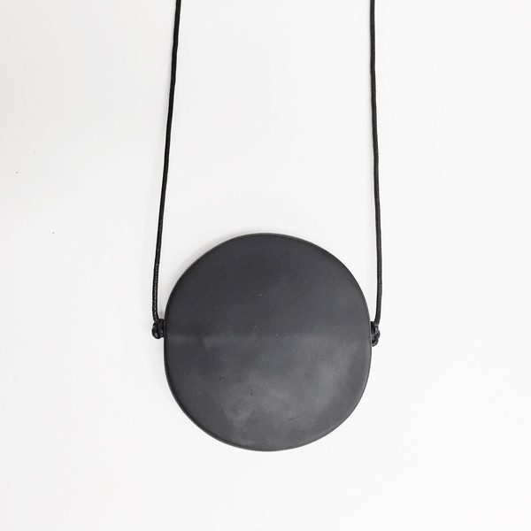 Sea + Pattern - Black Radial Necklace