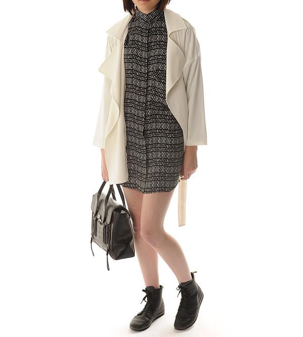 Shakuhachi China White Overcoat