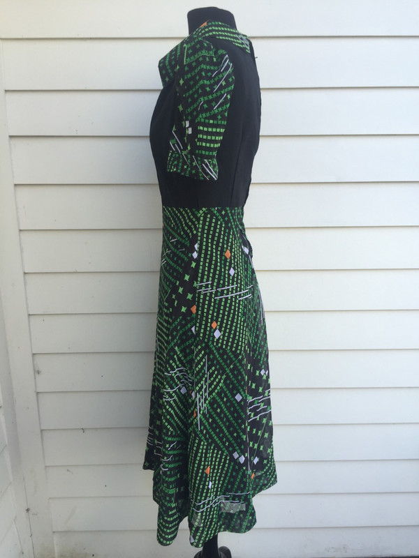 Abstract print Japanese 80's dress size small