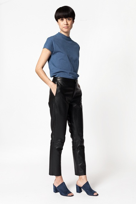 Markoo Leather Classic Crop Trousers