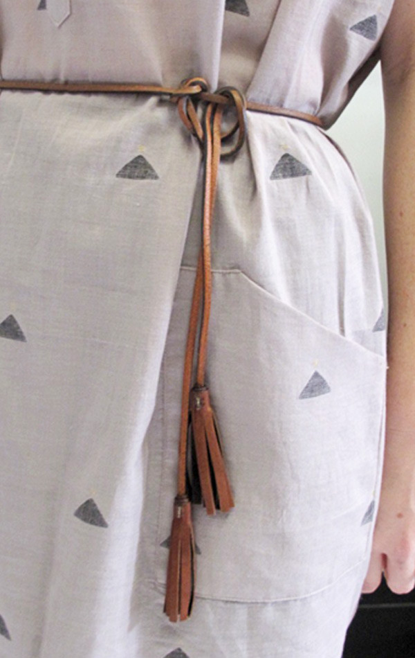 De Palma Leather Skinny tassel belt