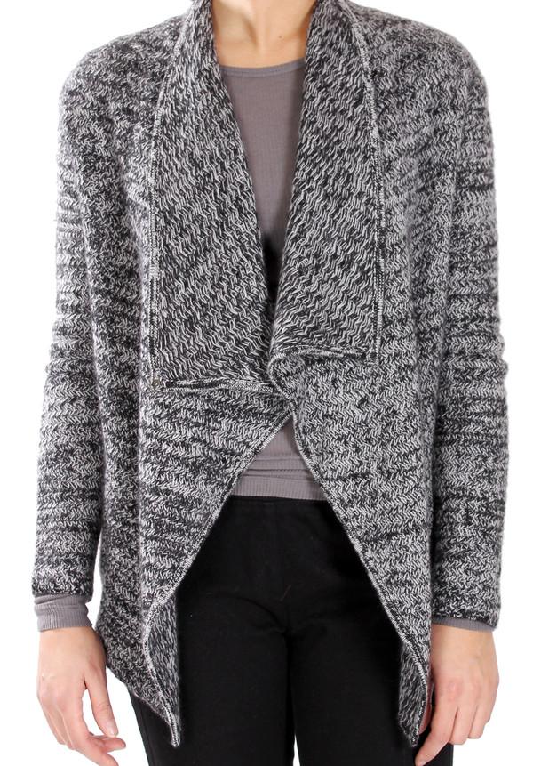 White + Warren Marled Tweed Jacket