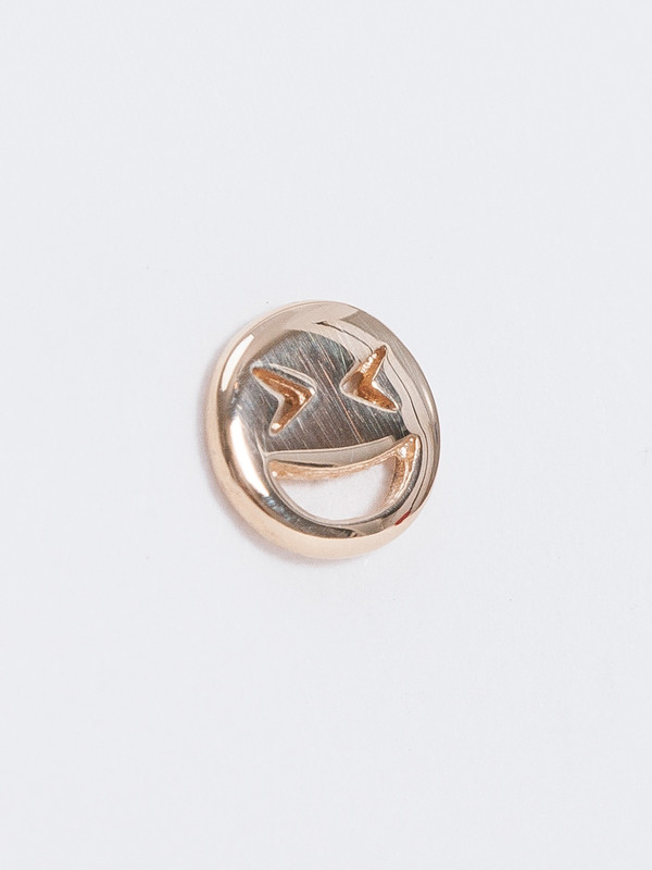 Winden LAUGHING FACE STUD / 14k
